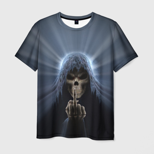 Мужская футболка 3D  Фото 01, Череп в капюшоне 2