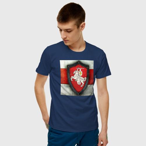 Мужская футболка хлопок  Фото 03, Бело Красно Белый