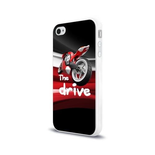 Чехол для Apple iPhone 4/4S силиконовый глянцевый The drive Фото 01