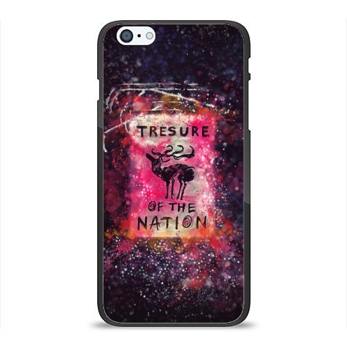 Чехол для Apple iPhone 6Plus/6SPlus силиконовый глянцевый  Фото 01, Tresure of the nation(pink)
