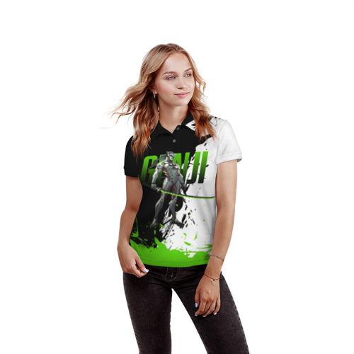 Женская рубашка поло 3D Overwatch Genji Фото 01