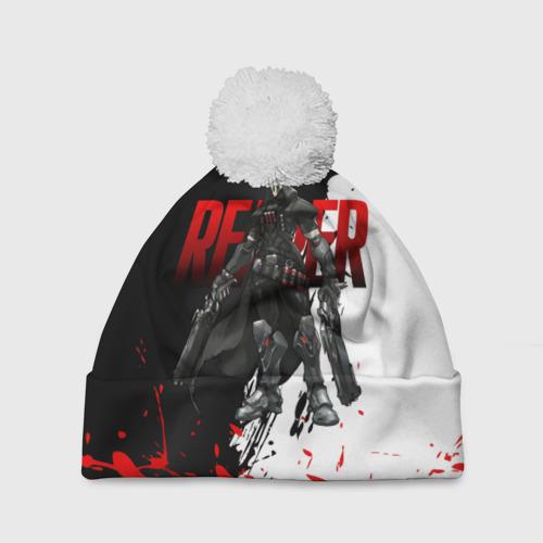 Шапка 3D c помпоном  Фото 01, Overwatch Reaper