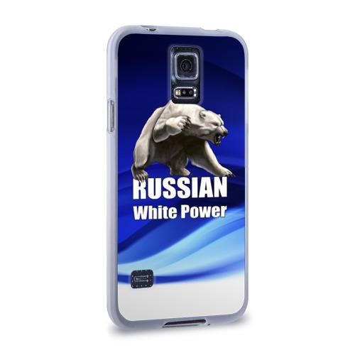 Чехол для Samsung Galaxy S5 силиконовый Russian white power Фото 01