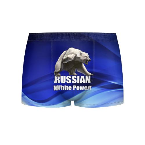 Мужские трусы 3D Russian white power Фото 01