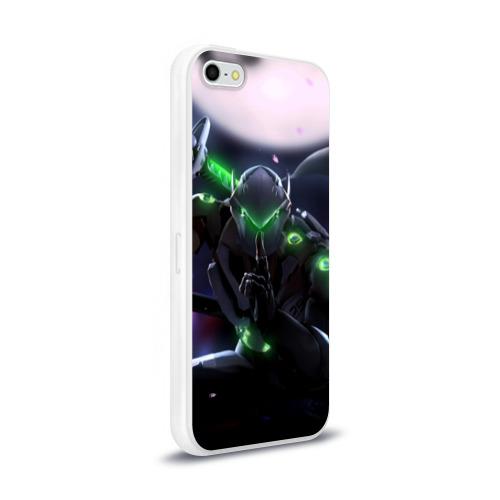 Чехол для Apple iPhone 5/5S силиконовый глянцевый  Фото 02, Overwatch Genji