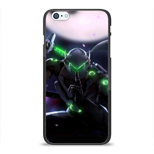 Чехол для Apple iPhone 6Plus/6SPlus силиконовый глянцевый Overwatch Genji Фото 01