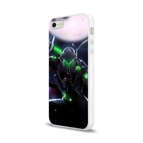 Чехол для Apple iPhone 5/5S силиконовый глянцевый  Фото 03, Overwatch Genji