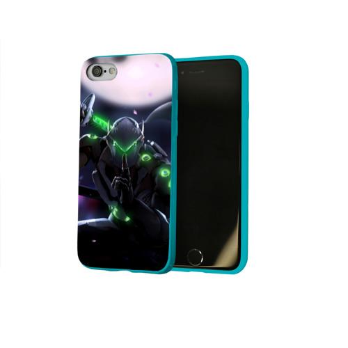 Чехол для Apple iPhone 8 силиконовый глянцевый Overwatch Genji Фото 01