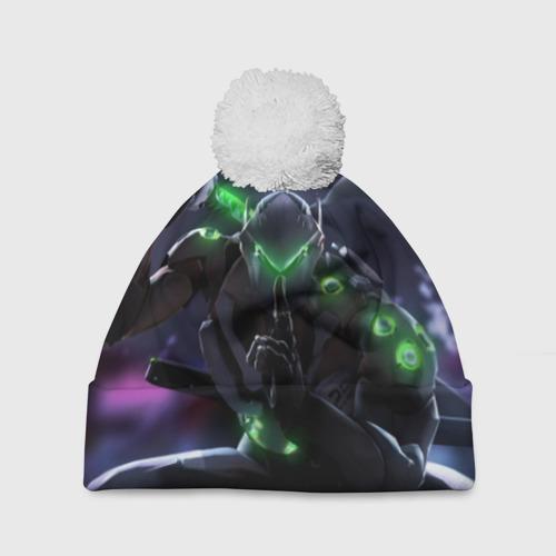 Шапка 3D c помпоном  Фото 01, Overwatch Genji