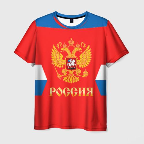 Мужская футболка 3D  Фото 01, Сборная России Домашняя форма