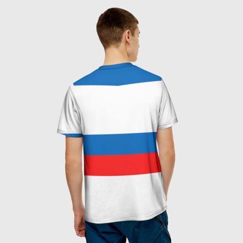 Мужская футболка 3D  Фото 02, Сборная России гостевая форма