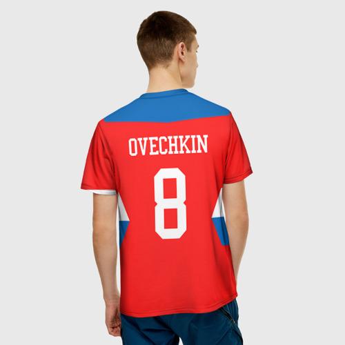 Мужская футболка 3D  Фото 02, Форма № 8 OVECHKIN