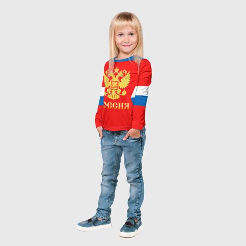 Детский лонгслив 3D  Фото 04, Форма № 8 OVECHKIN