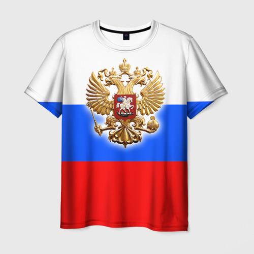 Мужская футболка 3D  Фото 03, Триколор