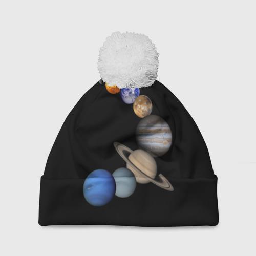 Шапка 3D c помпоном  Фото 01, Парад планет