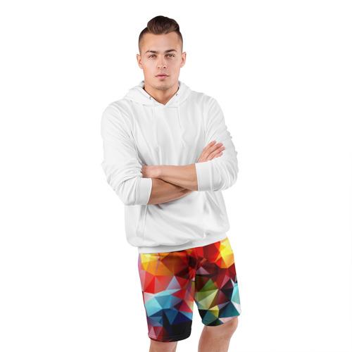 Мужские шорты 3D спортивные Polygon Фото 01