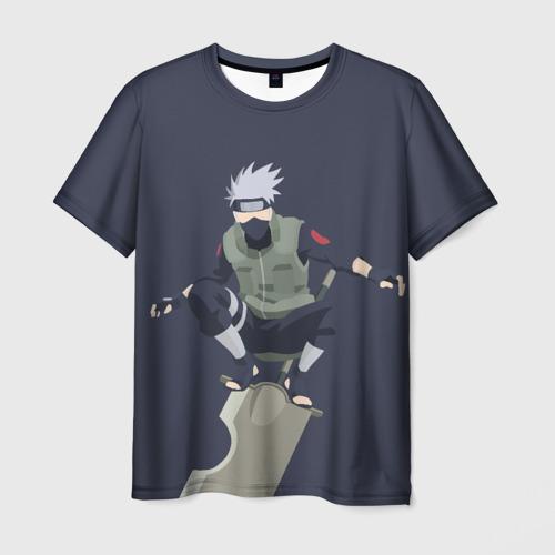 Мужская футболка 3D  Фото 01, Kakashi minimalism