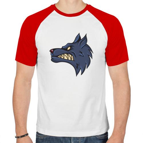 Мужская футболка реглан  Фото 01, Злой волк