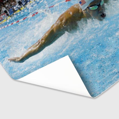 Бумага для упаковки 3D Пловец Фото 01