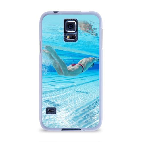 Чехол для Samsung Galaxy S5 силиконовый  Фото 01, swimmer