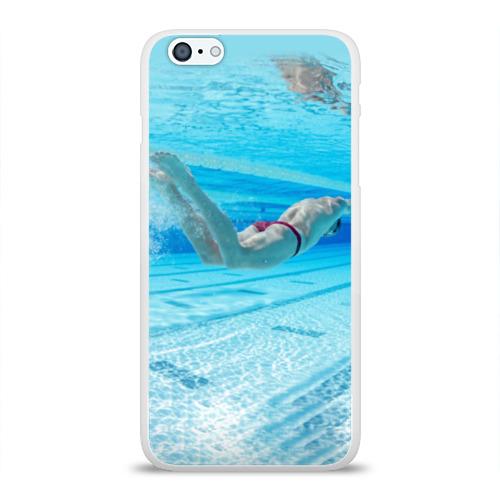Чехол для Apple iPhone 6Plus/6SPlus силиконовый глянцевый  Фото 01, swimmer