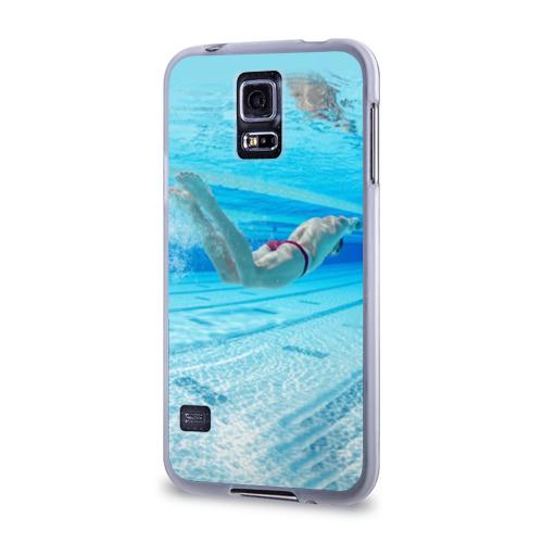 Чехол для Samsung Galaxy S5 силиконовый  Фото 03, swimmer