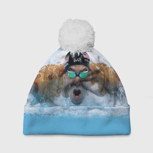 Шапка 3D c помпоном  Фото 01, swimmer