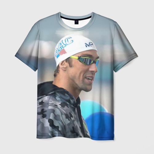 Мужская футболка 3D  Фото 01, Swimmer