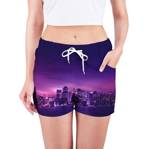 Женские шорты 3D  Фото 03, Ночной город