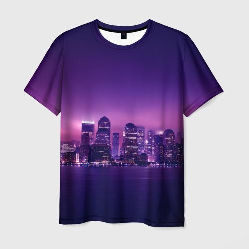 Мужская футболка 3D  Фото 03, Ночной город