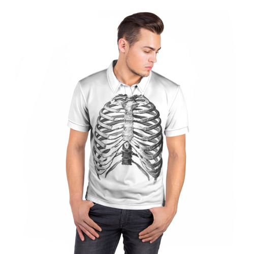 Мужская рубашка поло 3D  Фото 05, Ребра
