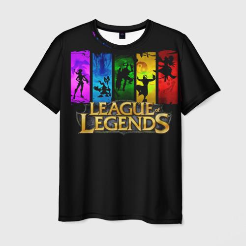 Мужская футболка 3D  Фото 01, LOL Heroes 2
