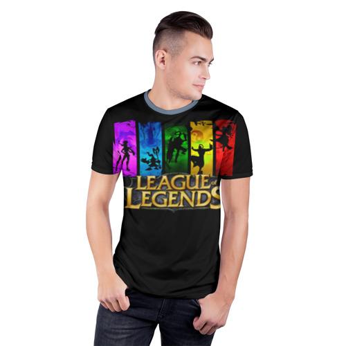Мужская футболка 3D спортивная LOL Heroes 2 Фото 01