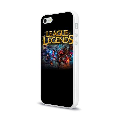 Чехол для Apple iPhone 5/5S силиконовый глянцевый LOL Heroes 1 Фото 01