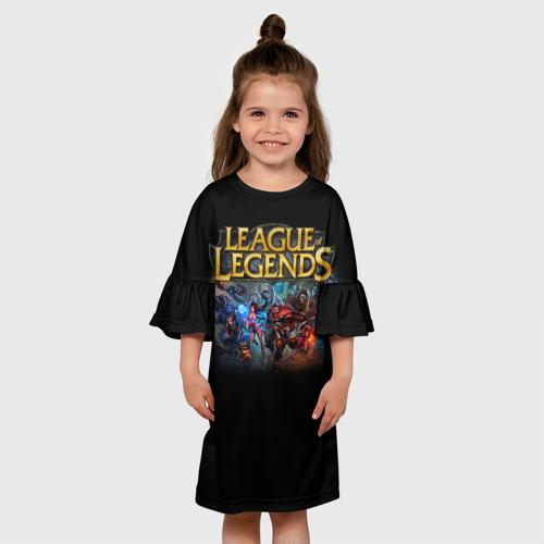 Детское платье 3D LOL Heroes 1 Фото 01