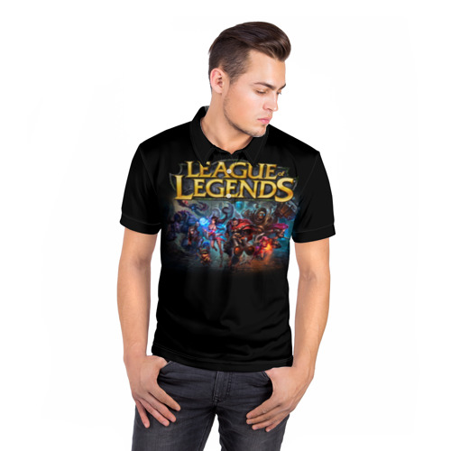 Мужская рубашка поло 3D LOL Heroes 1 Фото 01