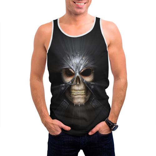 Мужская майка 3D  Фото 03, Скелет в маске