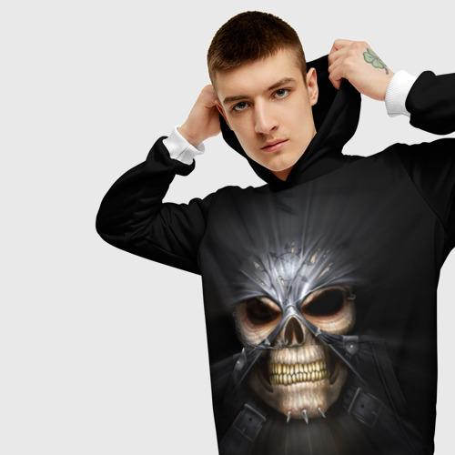 Мужская толстовка 3D  Фото 01, Скелет в маске