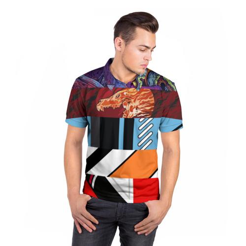 Мужская рубашка поло 3D  Фото 05, Multiskins