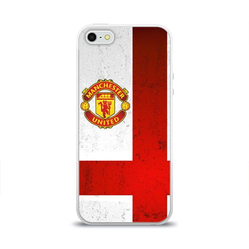 Чехол для Apple iPhone 5/5S силиконовый глянцевый Manchester United FC