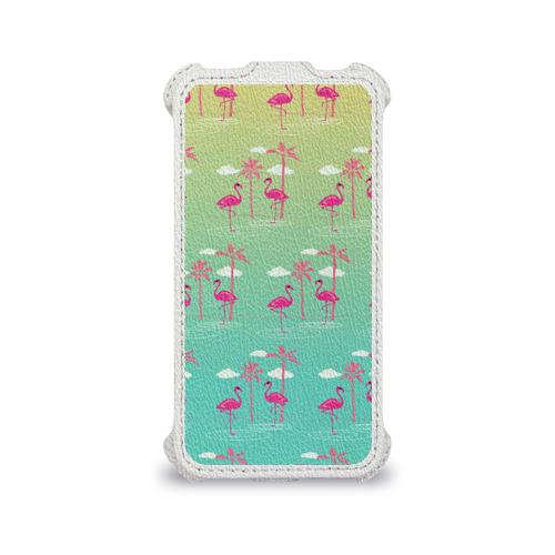 Чехол для Apple iPhone 4/4S flip  Фото 04, Фламинго и пальмы