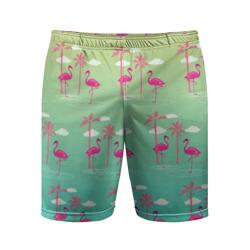 Фламинго и пальмы