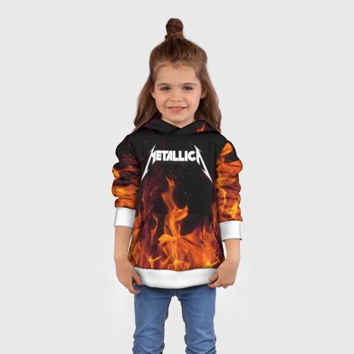Детская толстовка 3D  Фото 01, Metallica fire