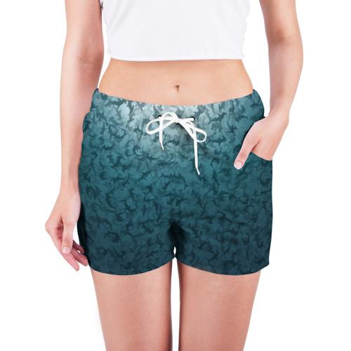 Женские шорты 3D  Фото 03, Акулы-молоты