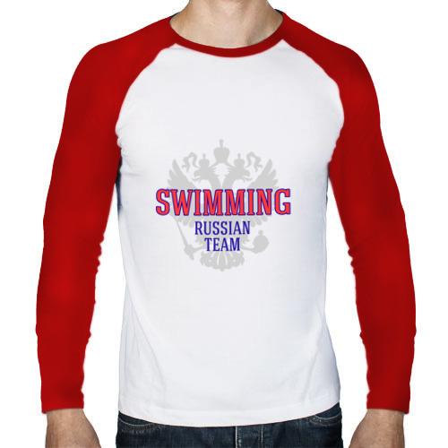 Мужской лонгслив реглан  Фото 01, Swimming Russian Team