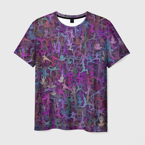 Мужская футболка 3D  Фото 01, Йога 2