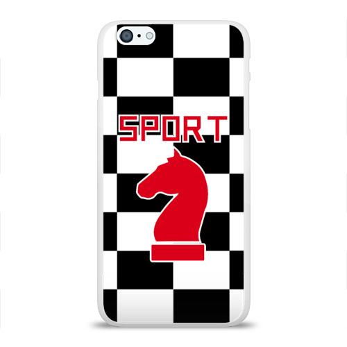 Чехол для Apple iPhone 6Plus/6SPlus силиконовый глянцевый  Фото 01, Шахматы это спорт