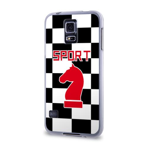 Чехол для Samsung Galaxy S5 силиконовый  Фото 03, Шахматы это спорт