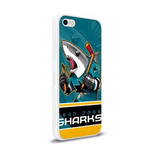 Чехол для Apple iPhone 5/5S силиконовый глянцевый  Фото 02, San Jose Sharks