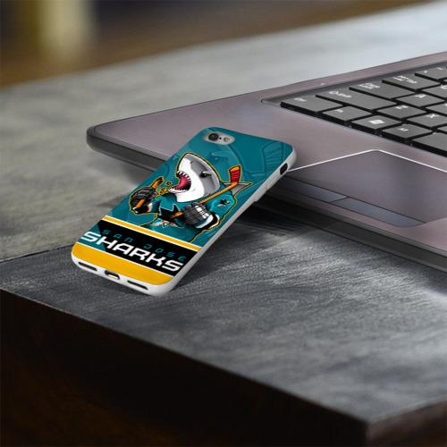 Чехол для Apple iPhone 8 силиконовый глянцевый  Фото 03, San Jose Sharks